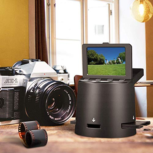 Scanner de Diapositives et Films 22 MP, 35mm, Super 8, 110 et 126 Negatives and Slides to JPEG, avec...