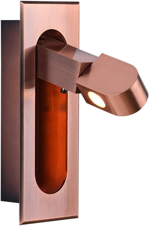 Einfache Moderne Led Wandleuchte Persnlichkeit Kreative Drehende Schlafzimmer Gang Wohnzimmer Mit Schalter Nachttischlampe Wandleuchte LED-Wandleuchte für Wohnzimmerflur-Schlafzimmerlam