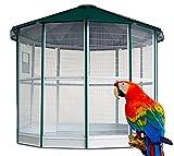 Jaula Voladero Grande - Voladero Manila de 12 Lados para Aves exóticas - Ideal para Parques y Jardines