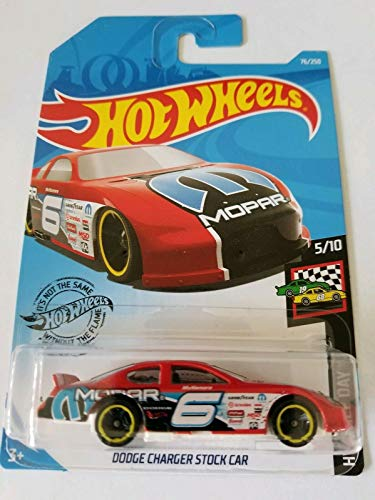 Hot Wheels 2019 Hw Race Day - Dodge Charger Stock Car, Red