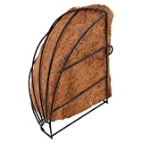 Macetero colgante de esquina de coco de coco para colgar en la pared, diseño de triángulo, maceta decorativa para plantas y decoración para interiores y exteriores