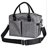 Lunch Box Large Lunch Bag, Thermal Cooling Tote Insulated Lunch Bags with Shoulder Strap for Women...