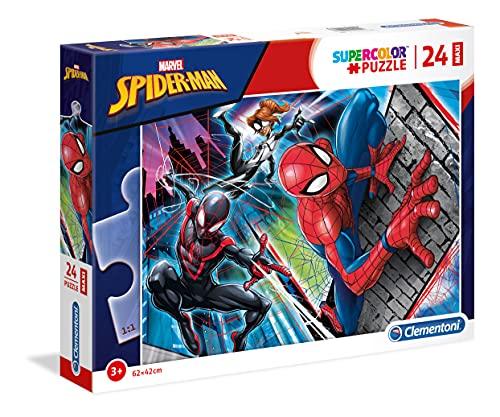Clementoni- Maxi Puzzle 24 Piezas Spider-Man, Multicolor (24