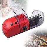 QZH Máquina de laminación de cigarrillos, automática de 5 velocidades para fumar cigarrillos, con tolva de tabaco transparente, rodillo de cigarrillos eléctrico para fumar amante de cigarrillos