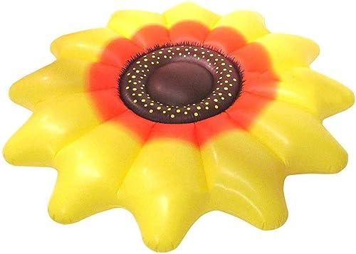 Aufblasbare Sun Flower Floating Row Erwachsene Kinder Sommer Strand Spielzeug Pool Party Lounge Flo