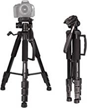 "Portable Tripod-CAMBOFOTO 55"" Camera Tripod with Tripod Bag and 3 Way pan Head for SLR/DSLR Canon Nikon Sony Olympus etc"