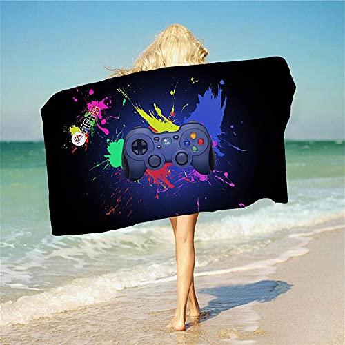 Proxiceen Toalla de playa Playstation extragrande, estilo anime, suave y delicado, para adultos y jóvenes (A2,70 x 140 cm)