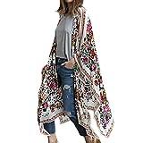 Kimono para Mujer - Cárdigan Largo Kimono, Floral Mujeres Kimono Dormir...