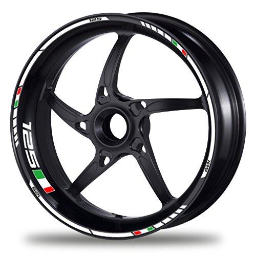 FELGENRANDAUFKLEBER passend für Aprilia RS 125 RS4 125 Tuono 125 Felgenaufkleber (Motiv 1V)