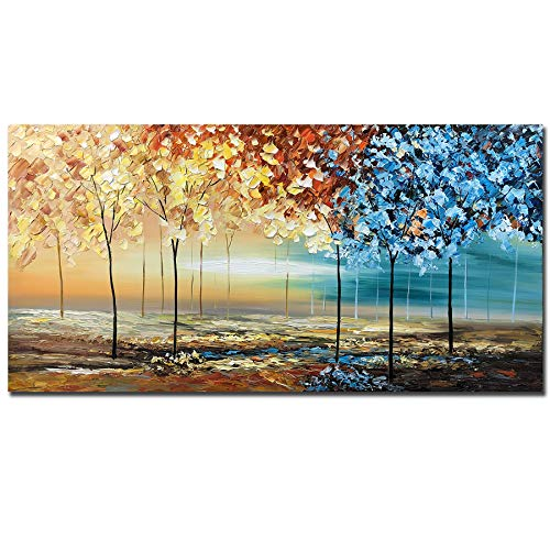 tiancheng Art, 24X48 inch Modern Abstract Hand Painted Oil Paintings Acrylic Canvas Art Wall Art...