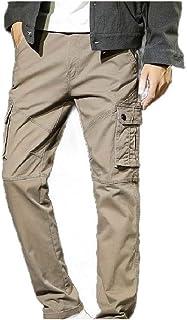 بنطال رجالي من Comaba بتصميم كلاسيكي ملائم ومكافح للجري مع جيوب جانبية
