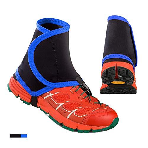 Trail Low guêtres cheville extérieure sandproof revêtement de pied course cross-country d'équipement de ski Surchaussures imperméable unisexe,Bleu