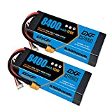DXF 2PCS 4S 14.8V 8400mAh 120C RC LiPo Battery Hard Case XT90 Connector for Rc 1/8 Buggy Truggy Car