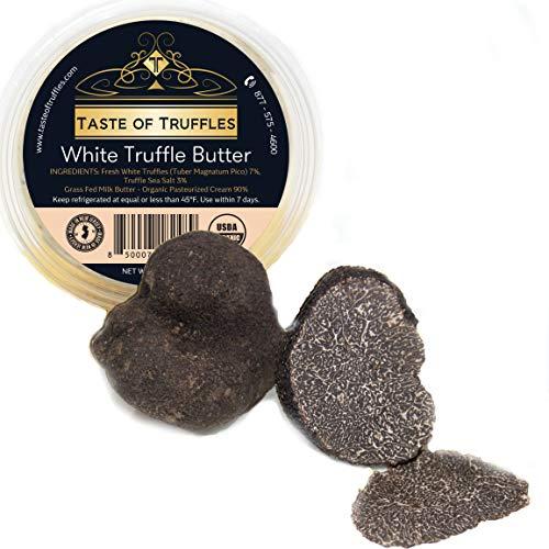 Fresh Black Truffles 2 OZ (Tuber Melanosporum) | Winter French Black Truffles and TASTE OF TRUFFLES White Truffle Butter