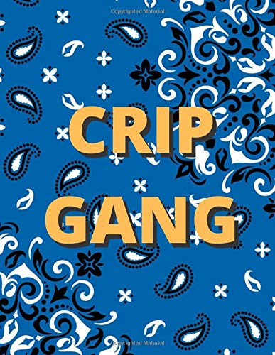 Crip Gang Blue Bandana (Blank Lined Journal / Notebook)