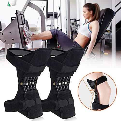 ZH-VBC Knee Brace Support, Knie Unterstützung, Knie-Booster, Joint Support Knee Pads, Patella Booster, Powerlift Gelenkstütze Knieschützer mit Kraftvolle Zugfeder für Gym Workout