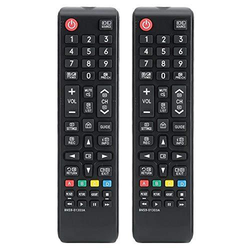 para Samsung Control Remoto, 2 Piezas de reemplazo de Controlador Remoto de televisión de Cine en casa TV para Samsung BN59-01303A