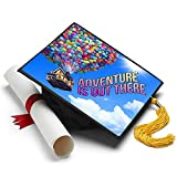 Tassel Toppers Adventure is Out There - Disney - Up Decorated Grad Cap
