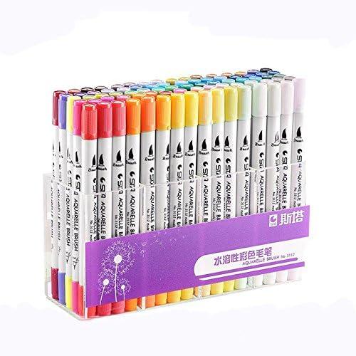 mas barato 12   24  36     48   80 Pcs Set de Pinceles Acuarela STA Colorido Marcador de Pintura de Caligrafía Perfecto para Artistas Acuarela Dibujo Colorar(80 Colors)  a precios asequibles