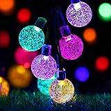Cshare LED ソーラー ストリングライト LED イルミネーションライト キャンプ ライト 50電球 7M LED ストリングスライト IP65防水 8モード 夜間自動点灯 クリスマス/ハロウィン/パーティー/バレンタインデー/新年/祝日/結婚式/学園祭屋外/室外/室内/庭対応 ソーラーパネル 装飾ライト