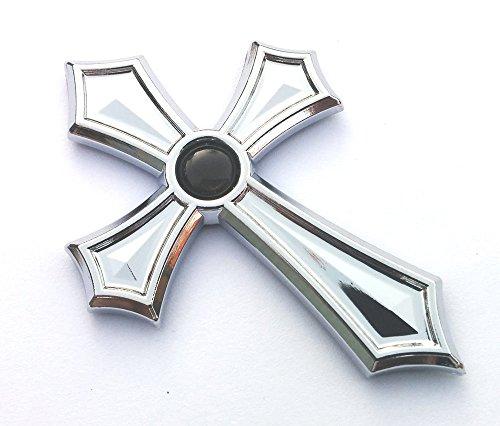 Christian Cross Jesus Cross car auto Bike Chrome Emblem Decal Sticker Black Dome
