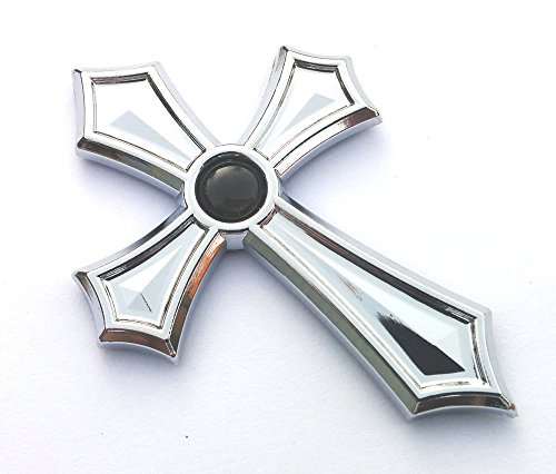 Christian Cross Jesus Cross car auto Bike Chrome Emblem Decal Sticker Black Dome