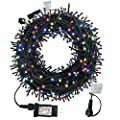 MZD8391 300 LED Christmas Fairy String Lights, End to End Plug, 105FT Tree Lights for Party, Wedding, Patio, Porch, Backyard, Garden