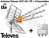 Televes DAT HD LTE BOSS 790 Antenne UHF TNT HD Trinappe 17 dB + Alimentation -...