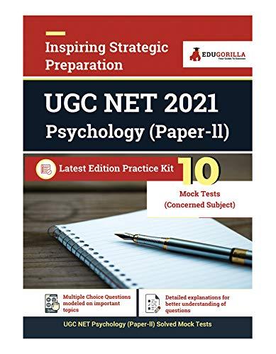 UGC NET Psychology Exam 2021 (Paper II)   National Eligibility Test   10 Full-length Mock Tests (SOLVED)   Latest Pattern Kit (Concerned Subject Test)