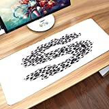 Gaming Mouse Mat,Letter S,Footballs in The Form of The Letter S of The Alp,Comfortable Mouse Pad Waterproof...