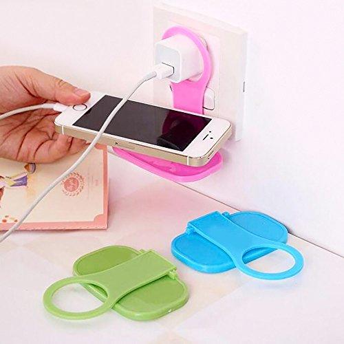 Lemoning 2Pcs Foldable Cell Phone Wall Charger Hanger Cradle Universal