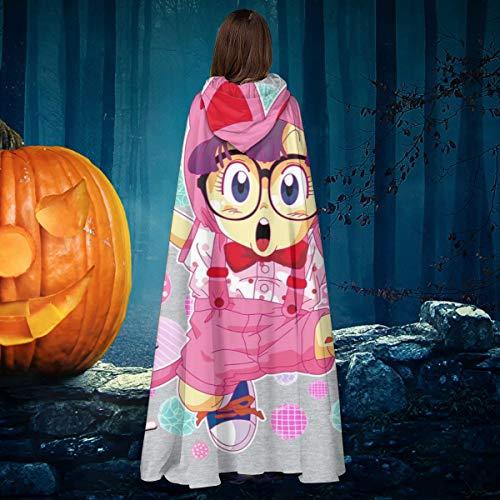 AISFGBJ Arale Norimaki Cat Maglia Dr Slump Unisex Navidad Halloween bruja Caballero con capucha bata de vampiro capa de disfraz de cosplay