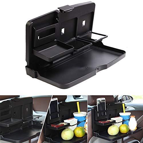 Henreal Auto-Esstisch, Esstisch für den Rücksitz, faltbarer Getränkehalter, Getränkehalter und Schreibtisch für Kinder