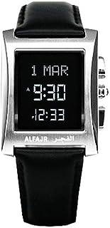 الساعة الكلاسيكية مع سير جلد طبيعي من الفجر/ ديجيتال دبليو إل-08 إل اللون الذهبي