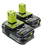 Ryobi P107 18-Volt Li-Ion Battery 2 Pack P109 (Renewed)