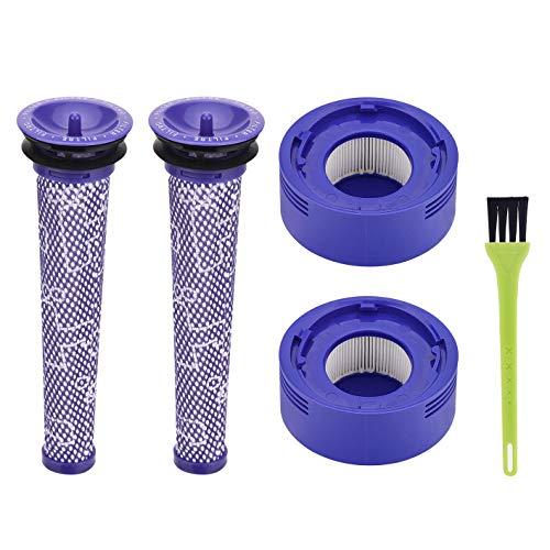 Jajadeal Filtro di Ricambio per Dyson V8 V7 Aspirapolvere, Pre-Filtro e HEPA Post-Filter con Spazzola di Pulizia Accessorio Kit