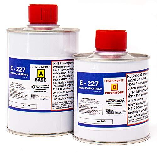 PROCHIMA E 227 Resina Epossidica da Stratificazione, A+B, 300 Gr