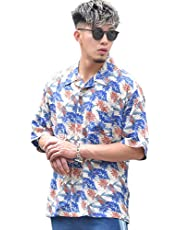 [JOKER Select(ジョーカーセレクト)]ビッグシルエットアロハシャツ ゆったり ビッグシャツ オープンカラー 開襟シャツ