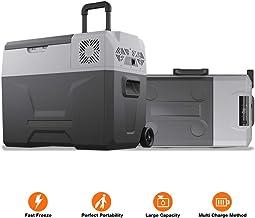 cho Portable Freezer Cooler AC/DC Compressor Refrigerator Fridge Trolley Wheels for Truck..