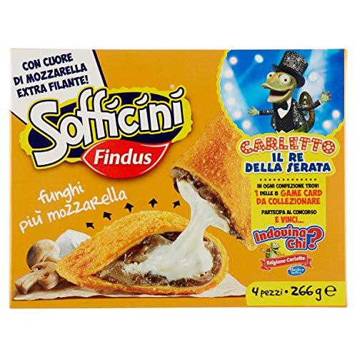 Findus Sofficini Funghi Più Mozzarella, Confezione da 4, 266g (Surgelato)