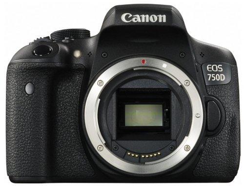 Canon EOS 750D Fotocamera Reflex Digitale da 24 Megapixel, Nero Antracite