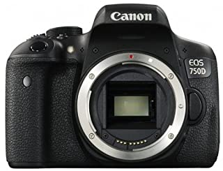 "Canon EOS 750D - Cámara réflex Digital de 24.2 MP (Kit con Objetivo EF-S 18-55 mm f/3.5-5.6 IS STM, Pantalla de 3"", 1080 p, WiFi estabilizador óptico, vídeo Full HD), Color Negro (versión española) (B00U2DGFH2) 