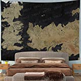 DBLLF Movie World Map Backdrop Tapestry for Photography Song of Ice and Fire Game of Thrones Background Wall Hanging,Fans Party Backdrop Tapestry Large 80'x60' Flannel Art Tapestries DBZY0653