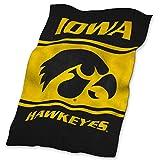 Logo Brands NCAA Iowa Hawkeyes UltraSoft Blanket, One Size, Team Color