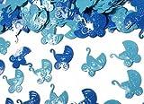 Folien-Konfetti Kinderwagen hellblau / blau, ca. 15 gr.