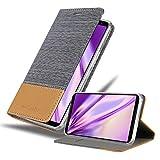 Cadorabo Hülle für Asus ROG Phone 2 in HELL GRAU BRAUN - Handyhülle mit Magnetverschluss, Standfunktion & Kartenfach - Hülle Cover Schutzhülle Etui Tasche Book Klapp Style