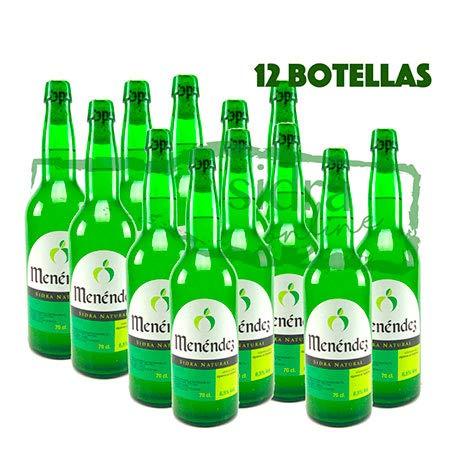 Caja de 12 botellas de sidra de Asturias Menéndez