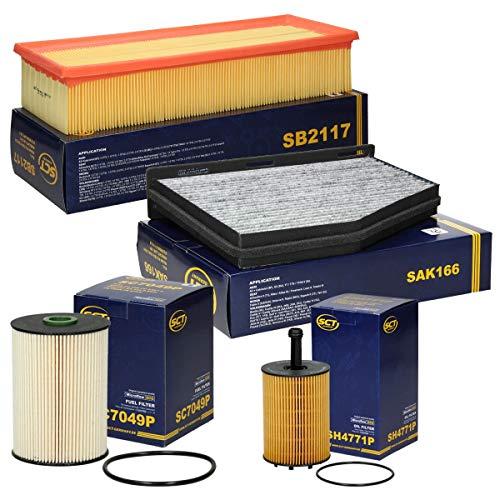 Inspektionspaket Wartungspaket Filterset 1 x Ölfilter 1 x Kraftstofffilter 1 x Innenraumfiltermit Aktivkohle 1 x Luftfilter