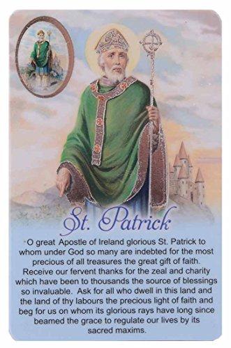 Prayer Cards Just Divine Gifts Tarjeta de oración San Patricio Medalla con Imagen de Gotas de Resina