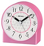 Seiko Sweep Second Hand Beep Alarm Clock-Pink, 4x8x7 cm
